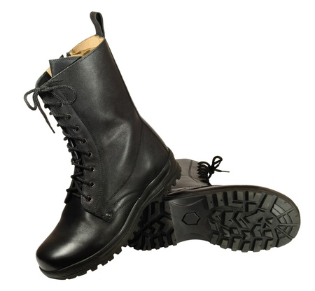 statutory: Statutory army  boots made of leather chrome tanning