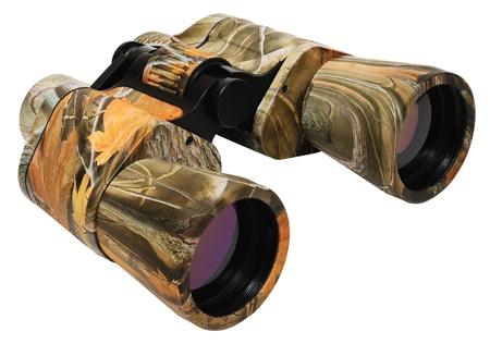 Military lightweight binoculars. Isolated on white background Stock Photo