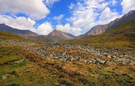 alpine tundra: The path in the alpine tundra. Eastern Sayan. Republic of Buryatia