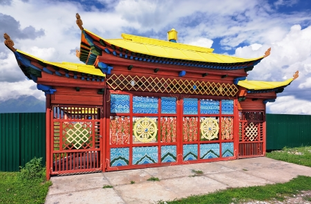 Gates datsans - Buddhist temple  Kyren village  The Republic of Buryatia