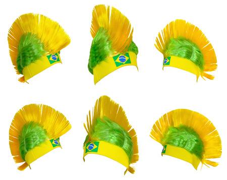 pokrývka hlavy: Template - Pokrývky hlavy fan Brazilská fotbalová reprezentace na mistrovství světa
