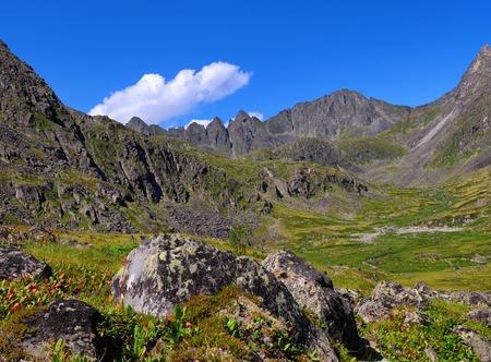 Siberian mountain tundra. Sayan mountains. Republic of Buryatia