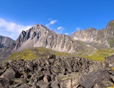 tunka range: Mountain landscape. Tunka range - Siberian Alps.Eastern Sayan.The Republic of Buryatia