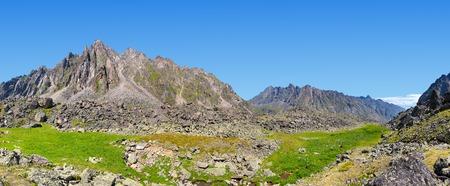 tunka range: Mountain panorama. TUNKA ridge. Eastern Sayan. The Republic of Buryatia Stock Photo