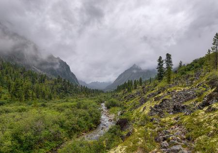 eastern sayan: U-shaped valley. Eastern Sayan. The Republic of Buryatia