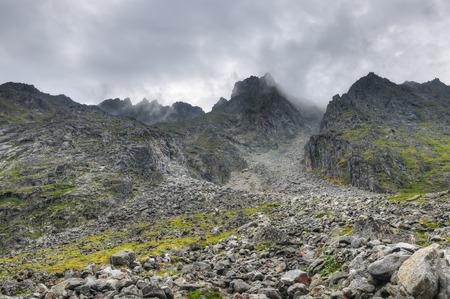 tunka range: Climbing the heights. July. Eastern Sayan. The Republic of Buryatia Stock Photo
