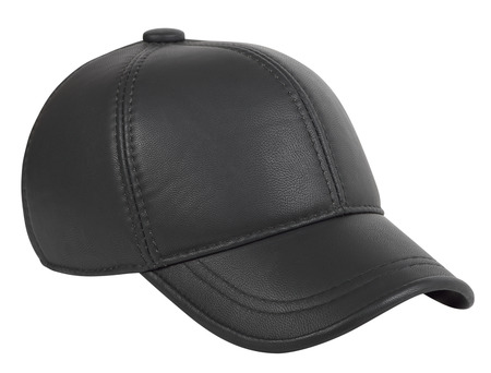 leatherette: Baseball cap leatherette on a white background