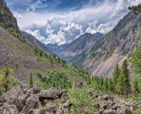 tunka range: Mountain valley. Eastern Siberia. Tunka range. The Republic Of Buryatia