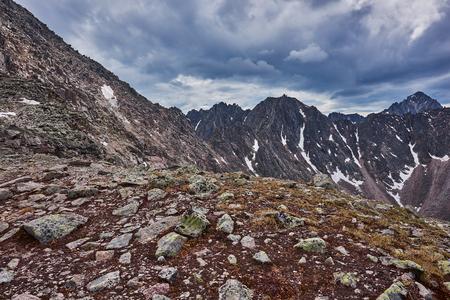 tunka range: Place the mountain pass. Eastern Siberia. Sayan Mountains.The Republic of Buryatia
