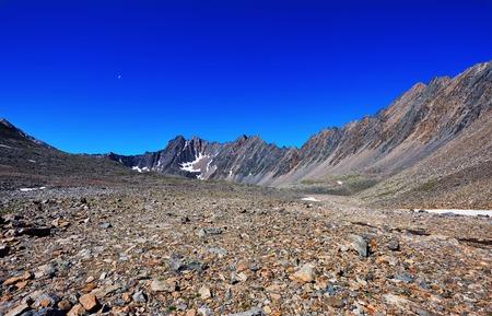 tunka range: Stone desert in the mountains of eastern Siberia. Sayan mountains. Buryatia Stock Photo