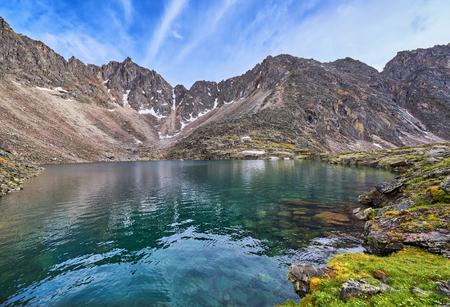 tunka range: Beautiful water of a mountain lake at range in the Eastern Sayan . Buryatia . Russia