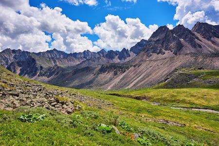 tunka range: Mountain tundra ridge. Eastern Sayan . Buryatia
