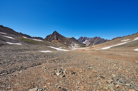 Stone Desert high plateau in eastern Siberia. Sayan mountains . Russia Stock Photo