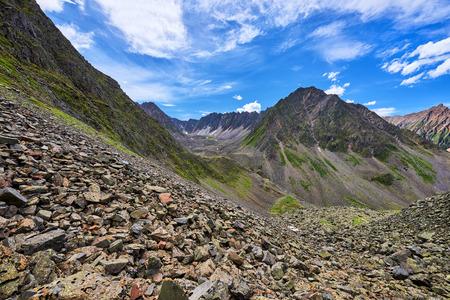 View down to cross the ridge Recessional moraine. Geomorphology . Eastern Siberia