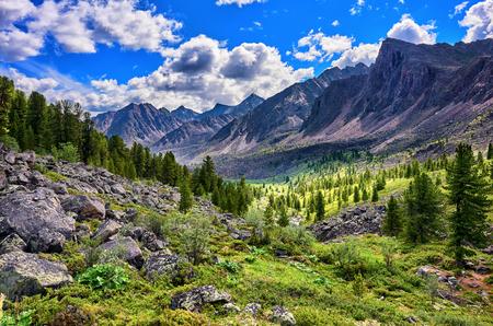 tunka range: Beautiful mountain terrain in Eastern Siberia . Eastern Sayan . Russia