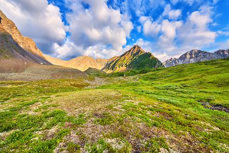 tunka range: Beautiful clouds over mountain tundra . Eastern Sayan . Russia