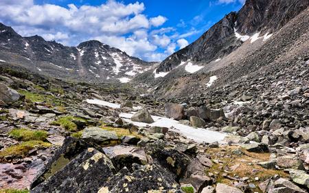 tunka range: Pass in saddle of  ridge . Eastern Sayan . Buryatia