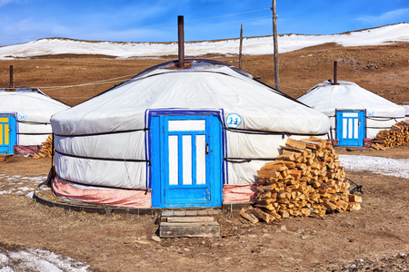 nomads: Mongolian ger (yurt) - modern dwelling nomads of Central Asia