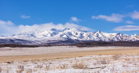 Array Munch-Sardyk highest mountain Sayan Mountains . March. Mongolia