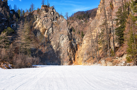 eastern sayan: Rocks mountain canyon in Eastern Sayan . White Irkut River . Buryatia . Russia