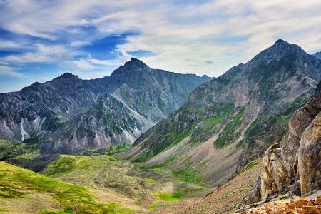 tunka range: View from sports pass mountain. Eastern Sayan Buryatia