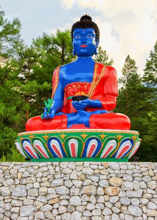 Bhaisajyaguru. Buddha of healing and medicine. Buddhist religious statue