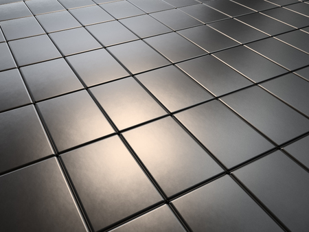 magnets: Metal plates of rare earth magnets 3D rendering