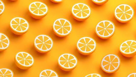 オレンジ色の果実 3 d イラスト集