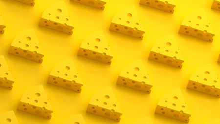 Cheese collection 3D illustration Stock Photo