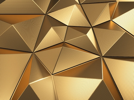 Gold Abstract Background 3D Rendering