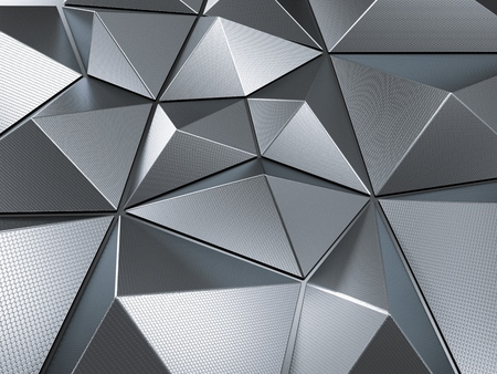 Metal Abstract Background 3D Rendering