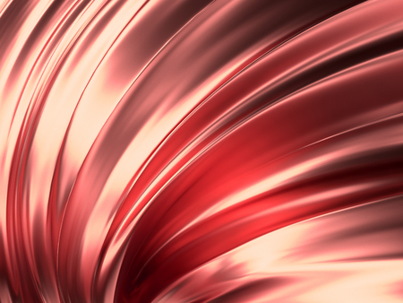 Rose Gold Wave Abstract Background 3D Rendering Фото со стока