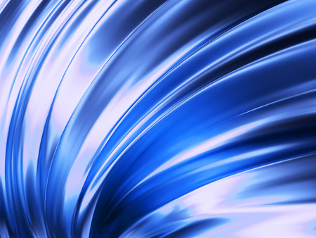 Blue Wave Abstract Background 3D Rendering Фото со стока