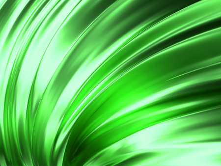 Green Wave Abstract Background 3D Rendering