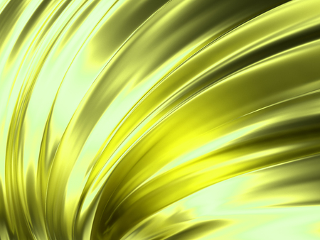 Yellow Wave Abstract Background 3D Rendering