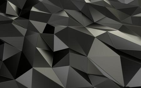 Grey Polygonal Shape with Lovely Reflections 3D Illustration Фото со стока