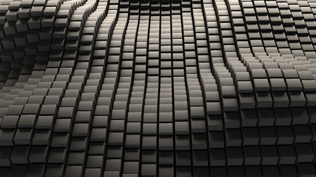Grey abstract stone wave background 3d rendering Фото со стока