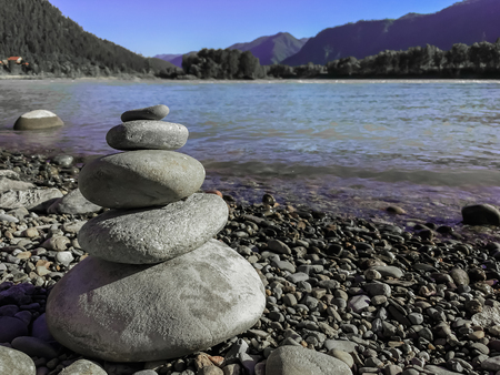 Stones on the shore Stock Photo