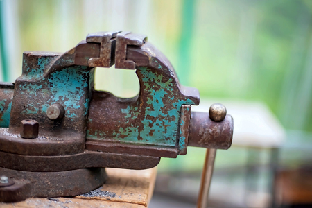 Vise joinery of iron workers. Russian Vice last century