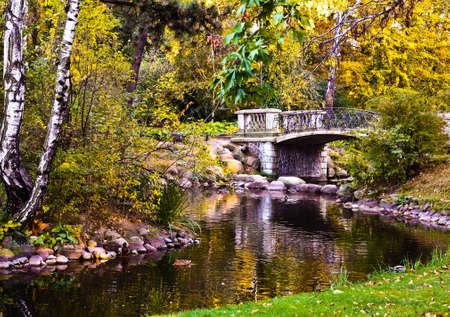 De beroemde park in Warschau