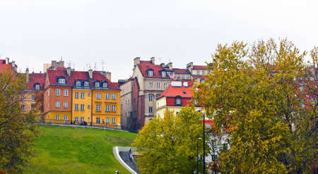 warszawa: Houses in the Old Town of Warsaw, Poland.