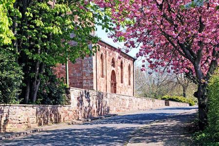 rhine westphalia: Church in Nidiggen. Germany