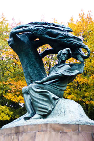 chopin heritage: Frederic Chopin Monument in Warsaw, Poland