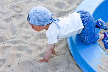 cute kid in play pit Stock Photo - 12194996