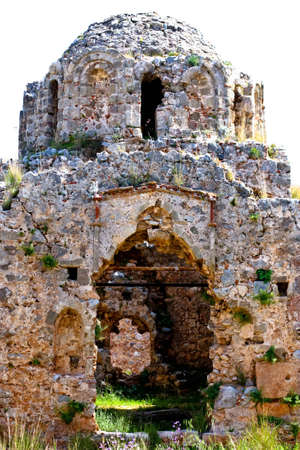 Turkey. Alanya. Ruins of Ottoman fortress. The byzantine church.  photo