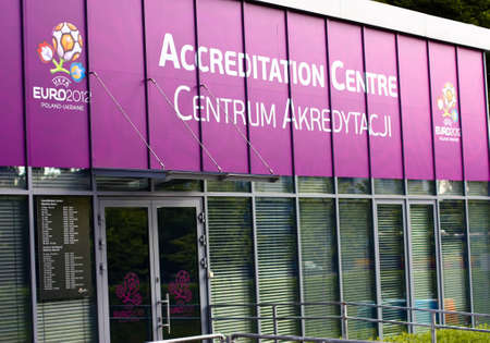 Accreditation Center. Euro 2012. Warsaw. Poland