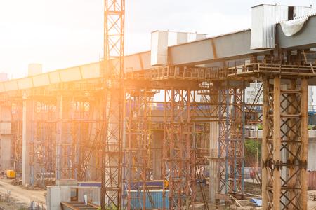 Building of the bridge shines the sun Фото со стока