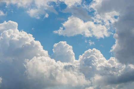 atmospheric phenomena: Aerial clouds against a blue sky at noon