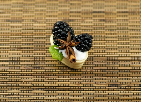 blackberry with cinnamon and anise photo
