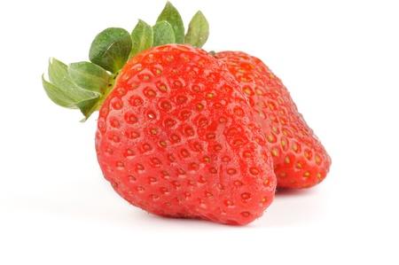 Fresh Ripe Perfect Strawberry isolated on white background Stock Photo - 12956618